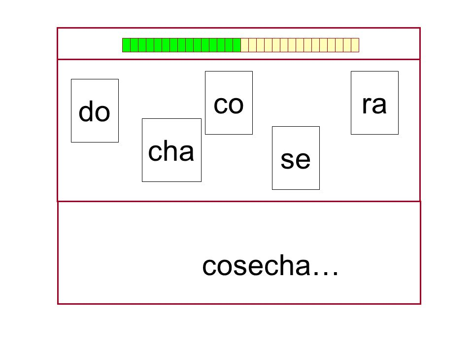 co ra do cha se cosecha… …