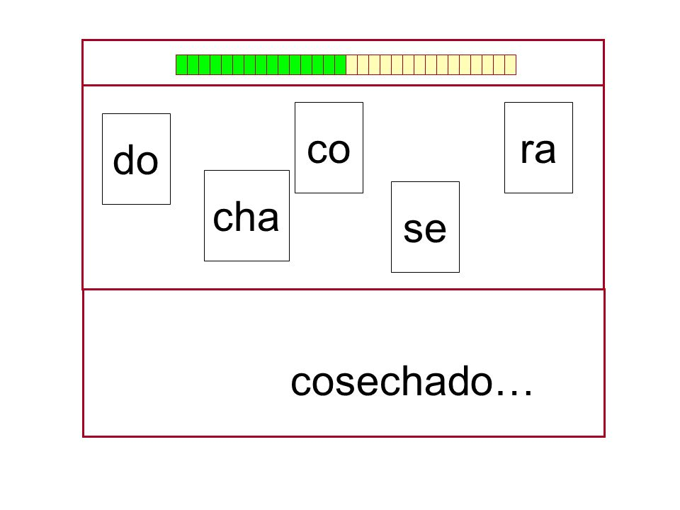 co ra do cha se cosechado… …