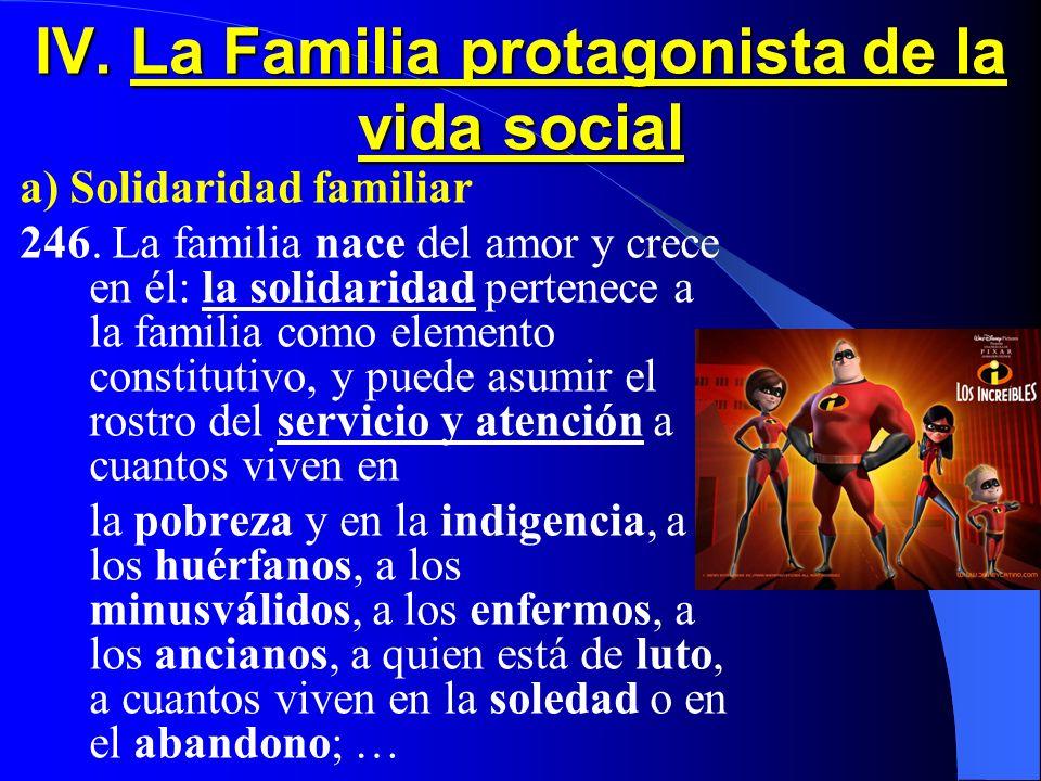 IV. La Familia protagonista de la vida social