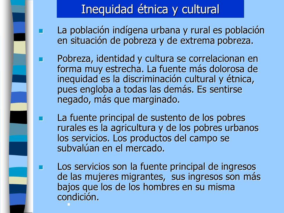 Inequidad étnica y cultural