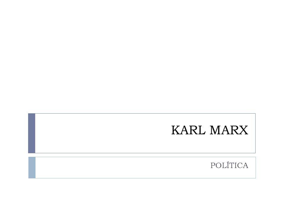 KARL MARX POLÍTICA