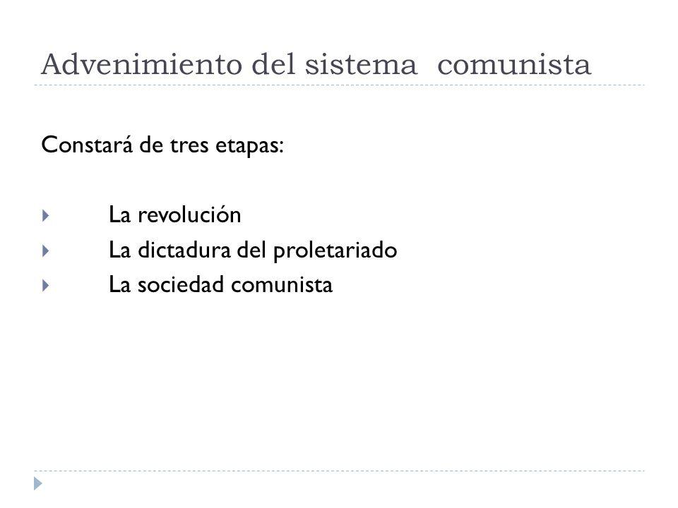 Advenimiento del sistema comunista