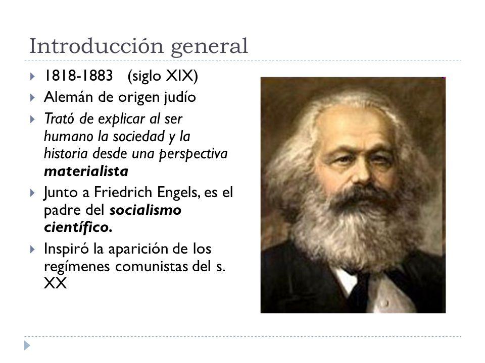 Introducción general 1818-1883 (siglo XIX) Alemán de origen judío