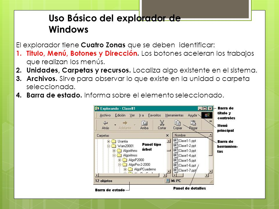 Uso Básico del explorador de Windows