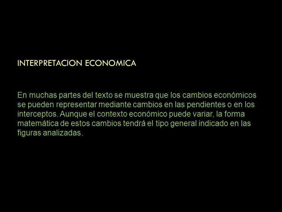 INTERPRETACION ECONOMICA