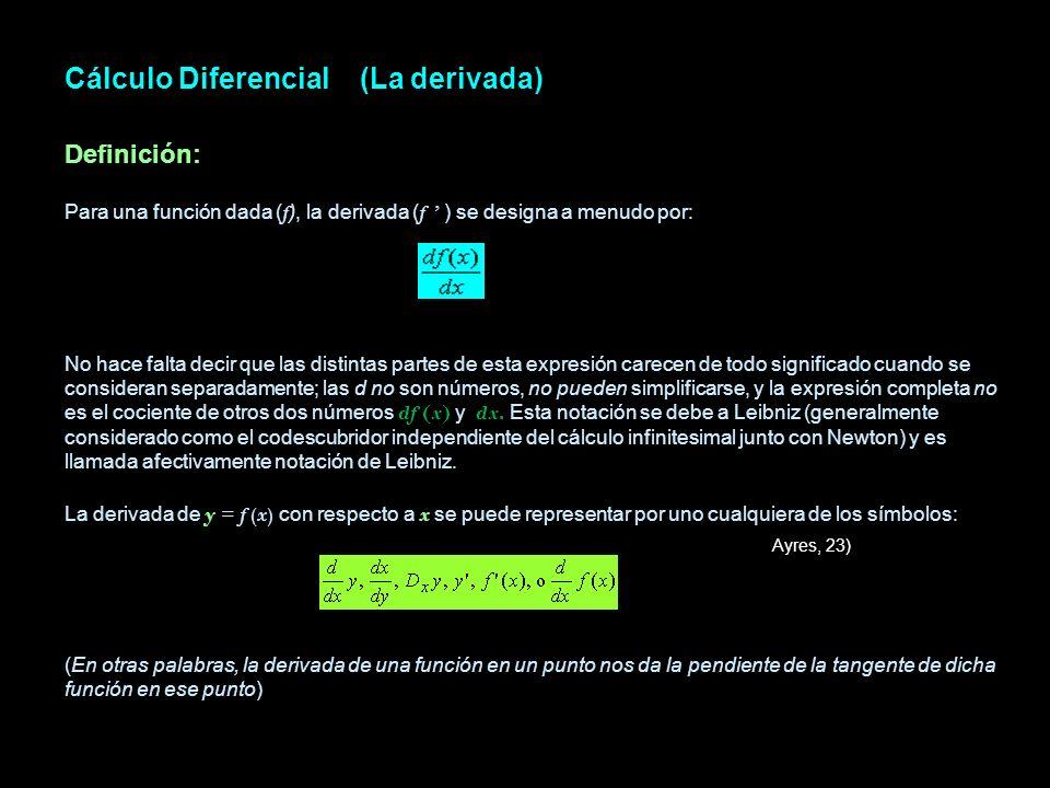 Cálculo Diferencial (La derivada)