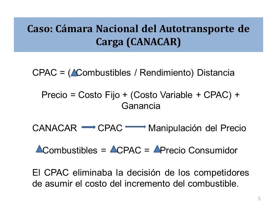 Caso: Cámara Nacional del Autotransporte de Carga (CANACAR)