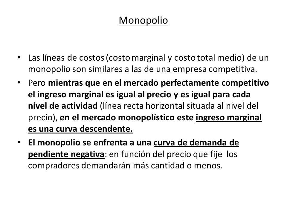 Monopolio el monopolio un mercado monopol stico es aquel for Costo medio del soffitto a cassettoni