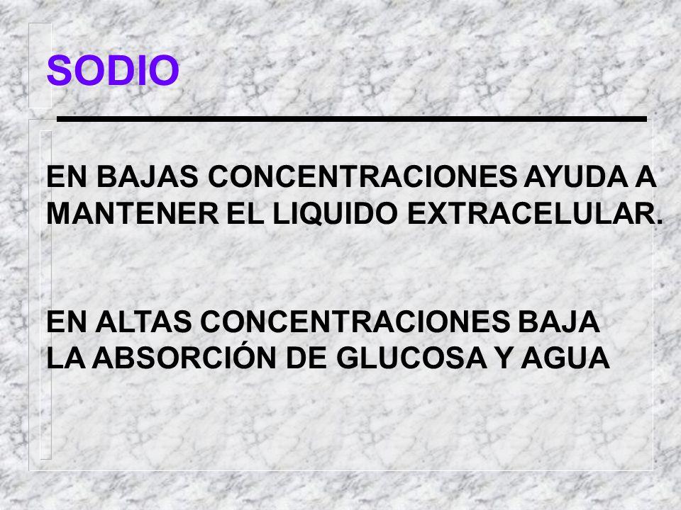 SODIO EN BAJAS CONCENTRACIONES AYUDA A
