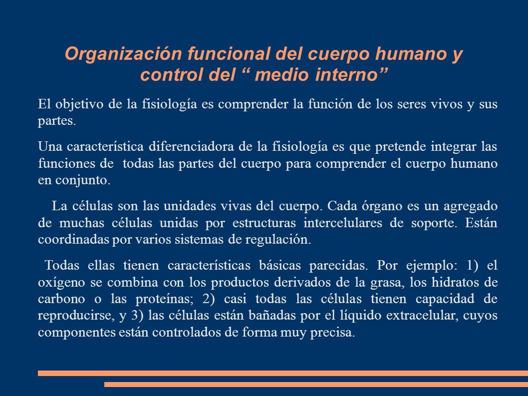"""Organización funcional del cuerpo humano y control del """" medio ..."""