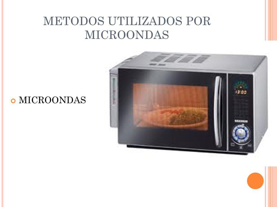 METODOS UTILIZADOS POR MICROONDAS