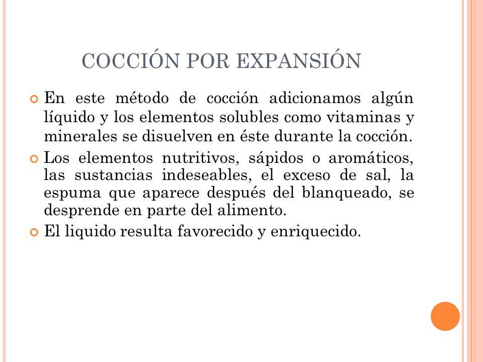 COCCIÓN POR EXPANSIÓN