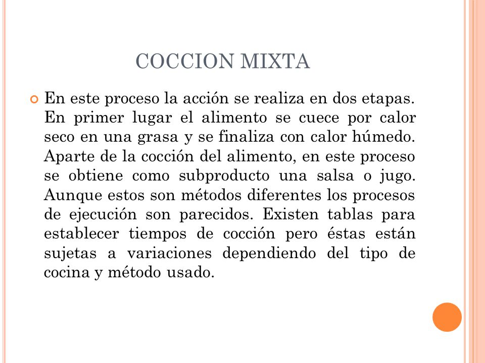 COCCION MIXTA