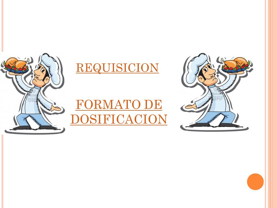 FORMATO DE DOSIFICACION