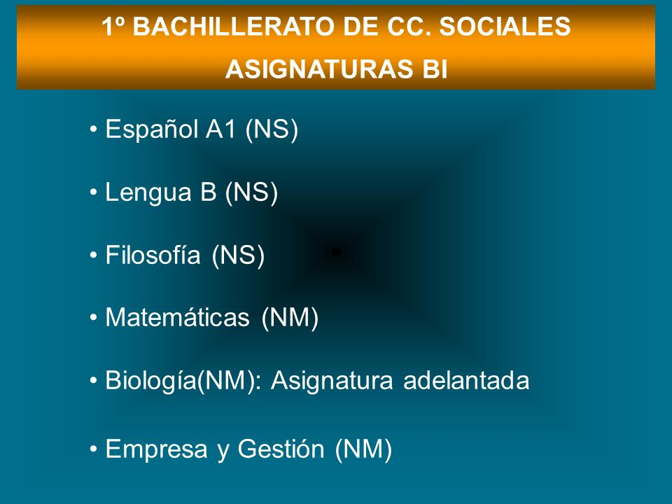 1º BACHILLERATO DE CC. SOCIALES