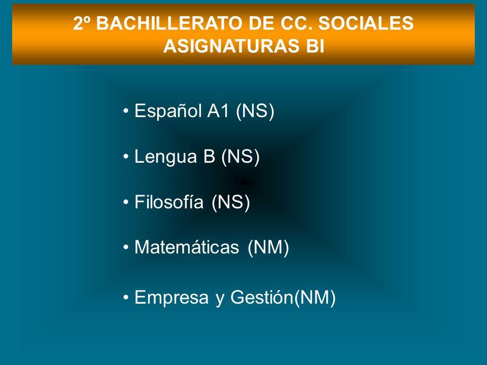 2º BACHILLERATO DE CC. SOCIALES