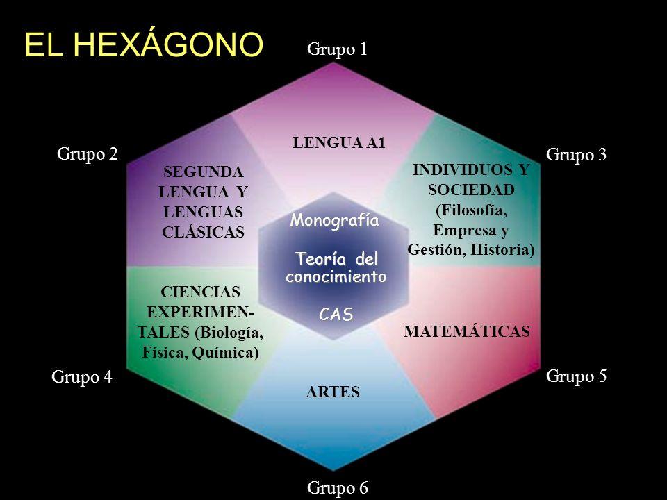 EL HEXÁGONO Grupo 1 Grupo 2 Grupo 3 Grupo 4 Grupo 5 Grupo 6 LENGUA A1