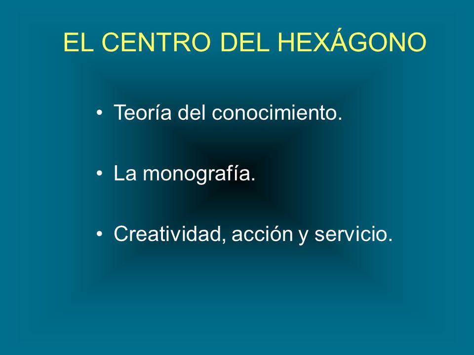EL CENTRO DEL HEXÁGONO Teoría del conocimiento. La monografía.