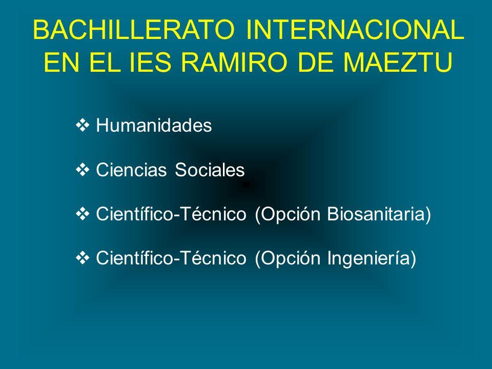 BACHILLERATO INTERNACIONAL EN EL IES RAMIRO DE MAEZTU