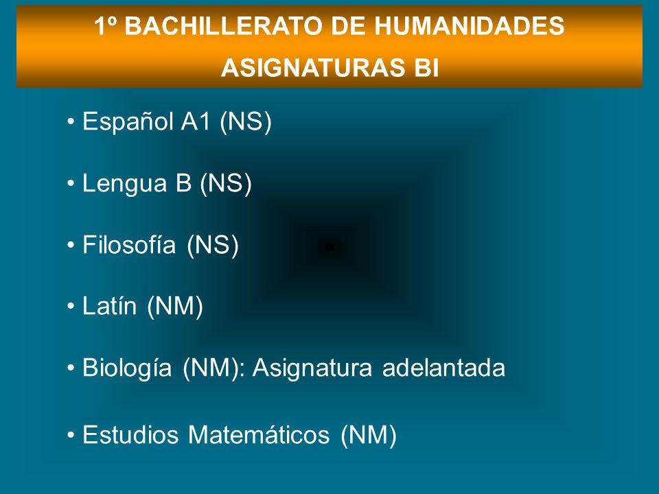 1º BACHILLERATO DE HUMANIDADES