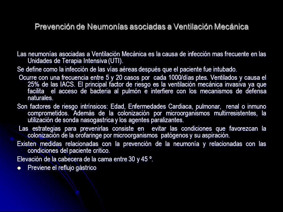 Prevención de Neumonías asociadas a Ventilación Mecánica