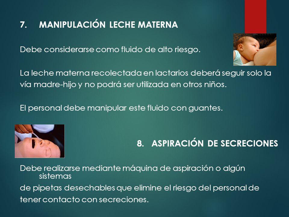 7. MANIPULACIÓN LECHE MATERNA