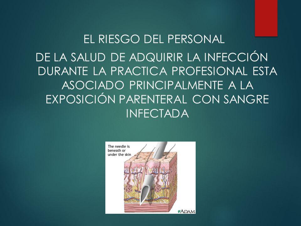 EL RIESGO DEL PERSONAL