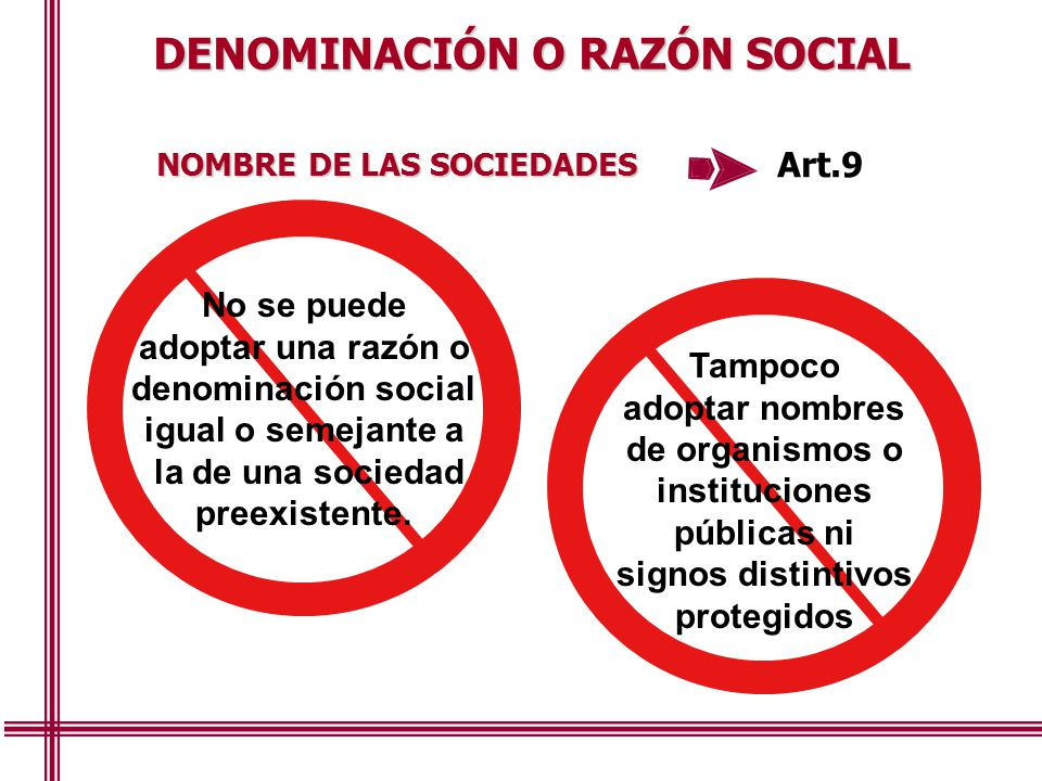 DENOMINACIÓN O RAZÓN SOCIAL