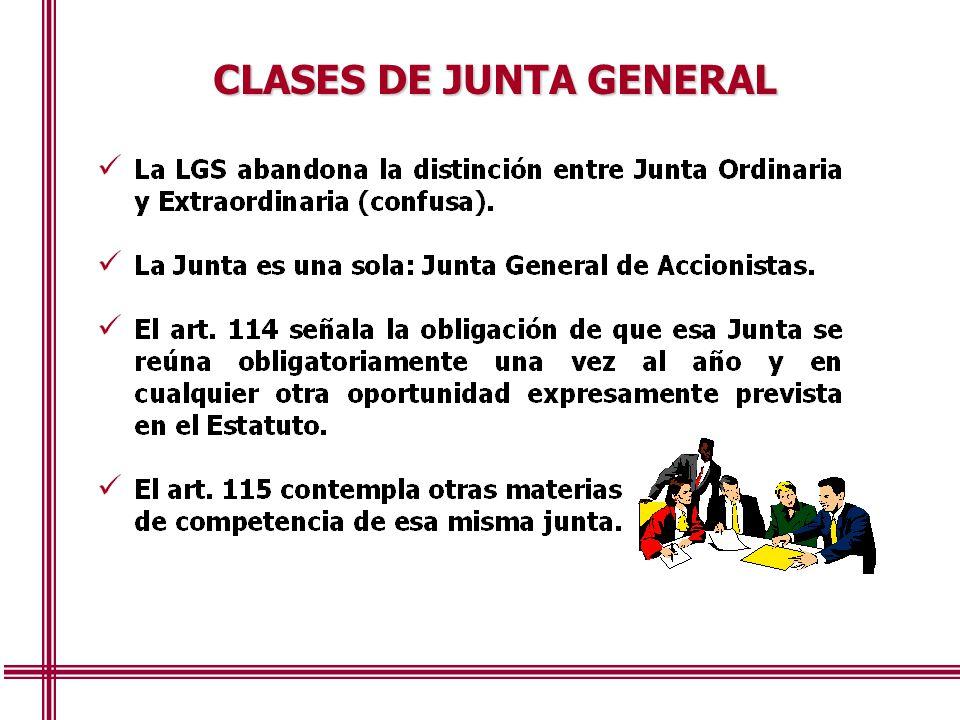 CLASES DE JUNTA GENERAL