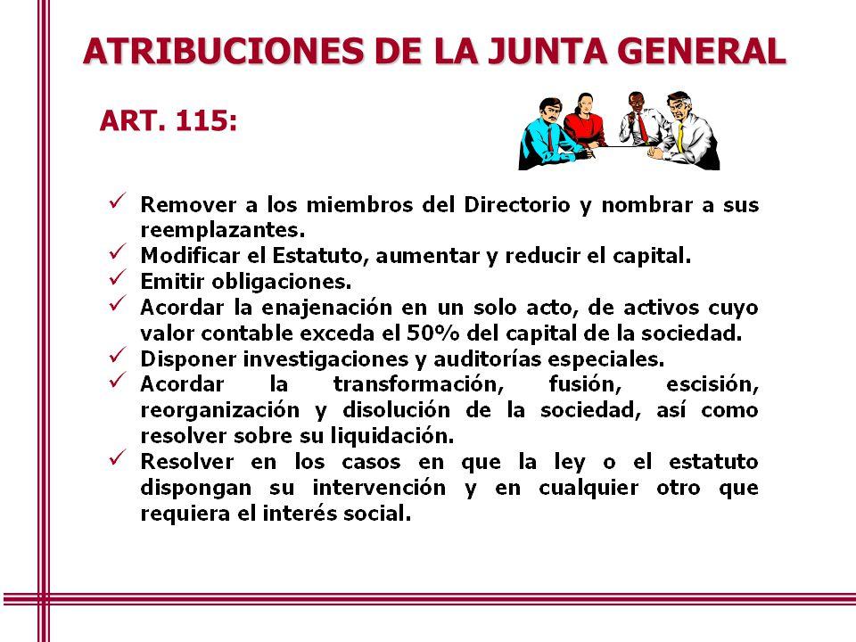 ATRIBUCIONES DE LA JUNTA GENERAL