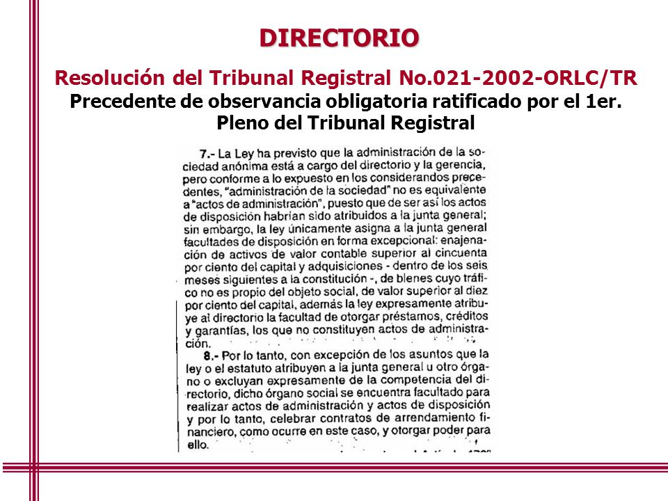 Resolución del Tribunal Registral No.021-2002-ORLC/TR