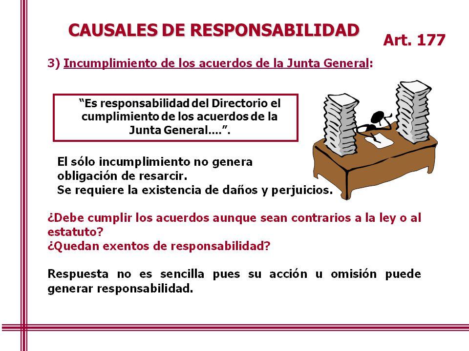 CAUSALES DE RESPONSABILIDAD