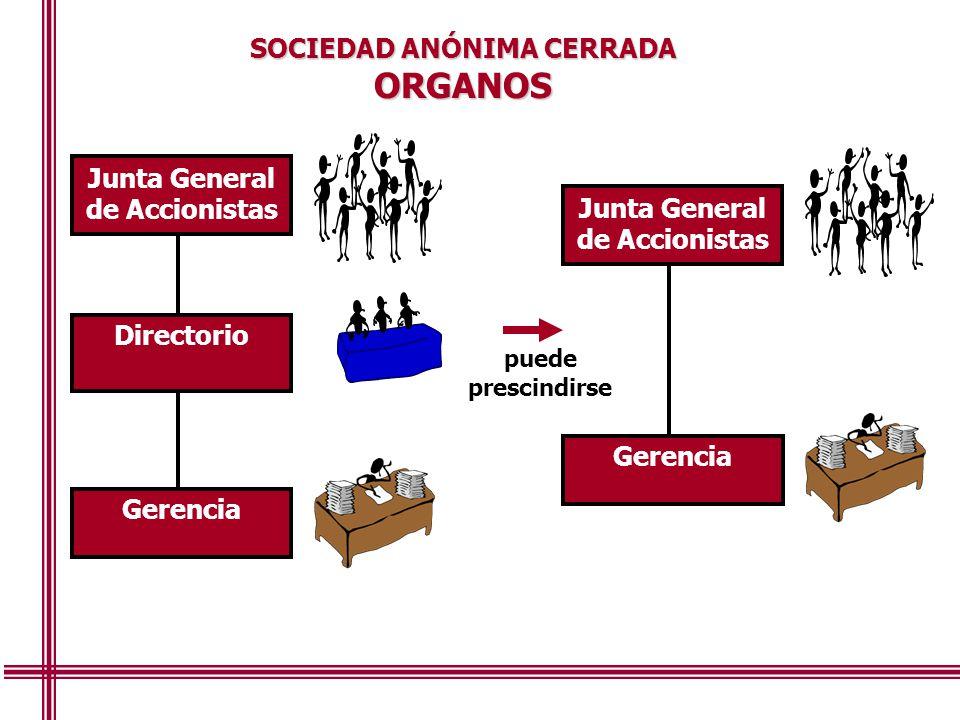 ORGANOS SOCIEDAD ANÓNIMA CERRADA Junta General de Accionistas