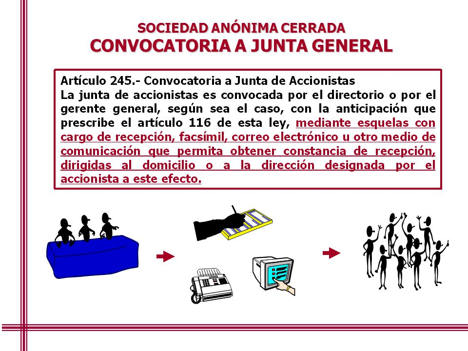 CONVOCATORIA A JUNTA GENERAL