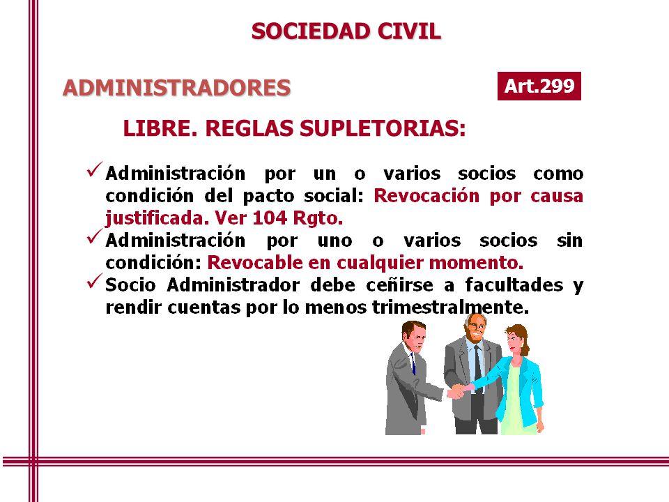 LIBRE. REGLAS SUPLETORIAS: