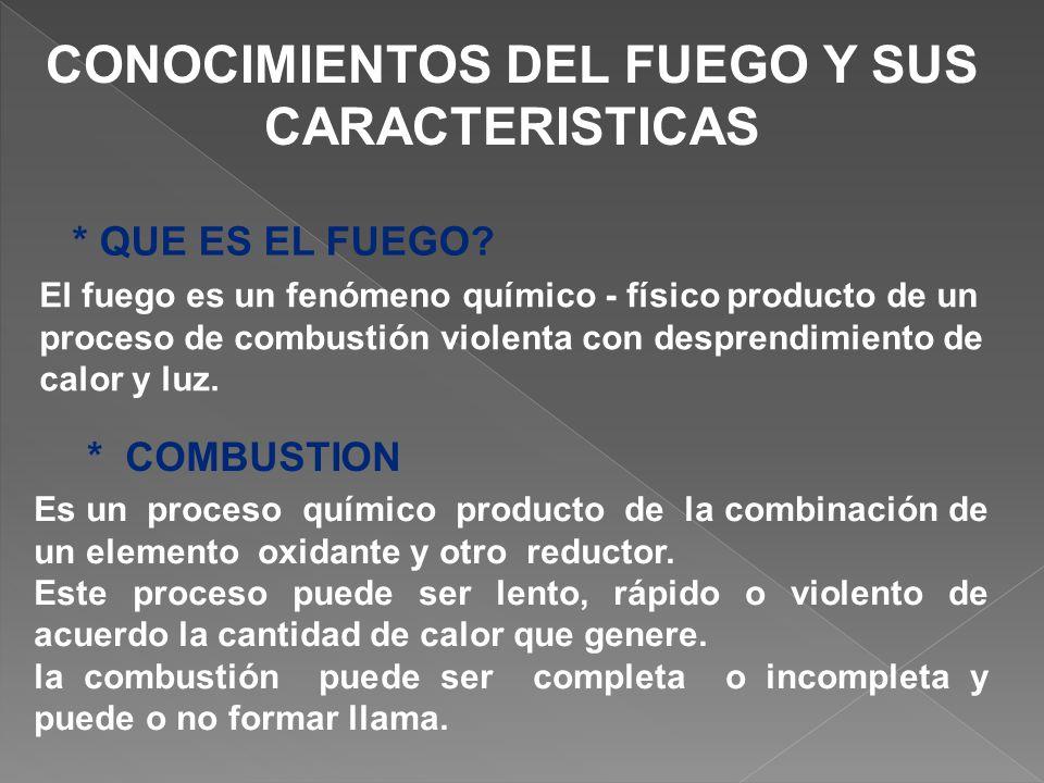 CONOCIMIENTOS DEL FUEGO Y SUS