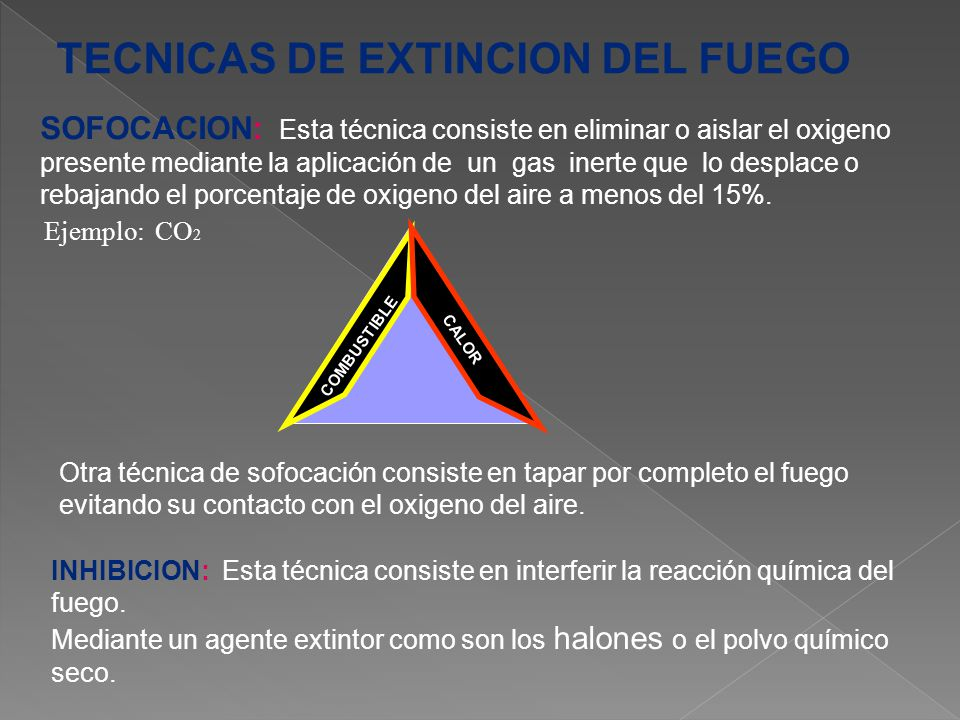 TECNICAS DE EXTINCION DEL FUEGO