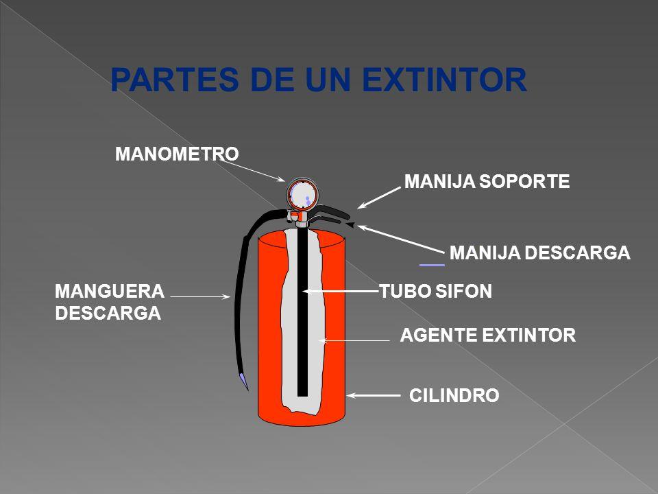 PARTES DE UN EXTINTOR MANOMETRO MANIJA SOPORTE MANIJA DESCARGA