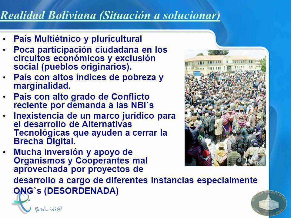 Realidad Boliviana (Situación a solucionar)