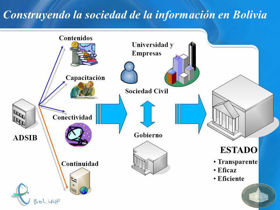 Construyendo la sociedad de la información en Bolivia