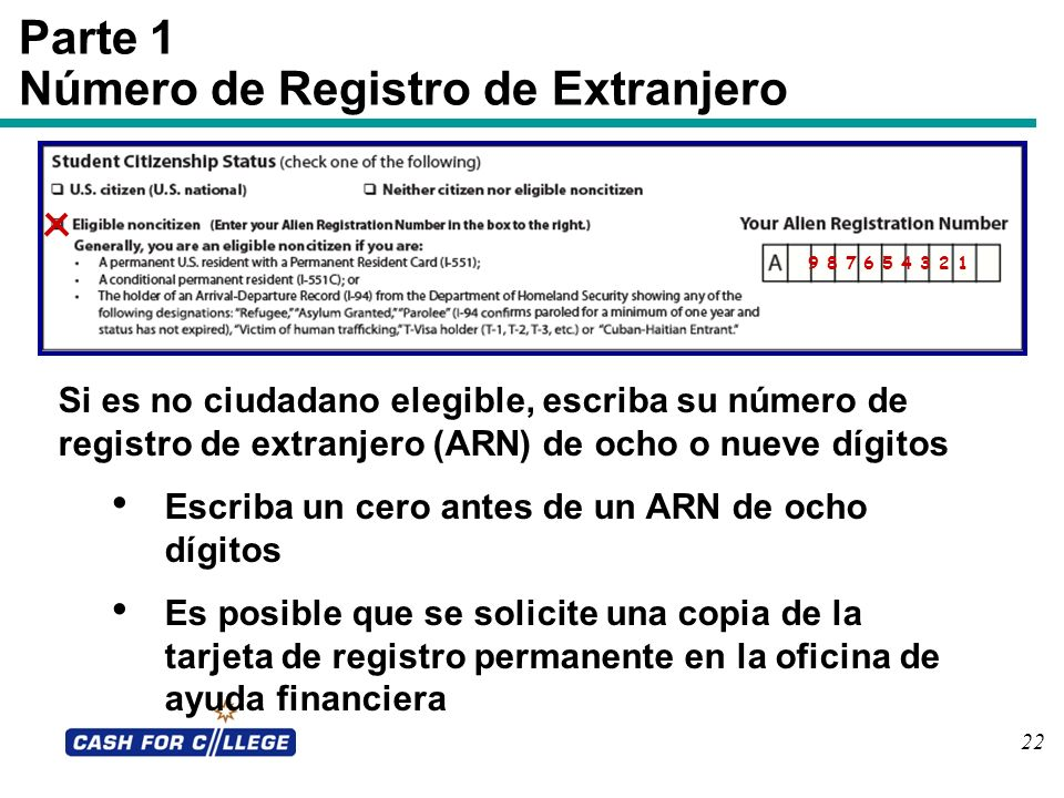 Número de Registro de Extranjero