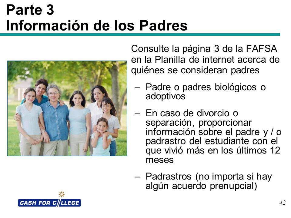 Parte 3 Información de los Padres
