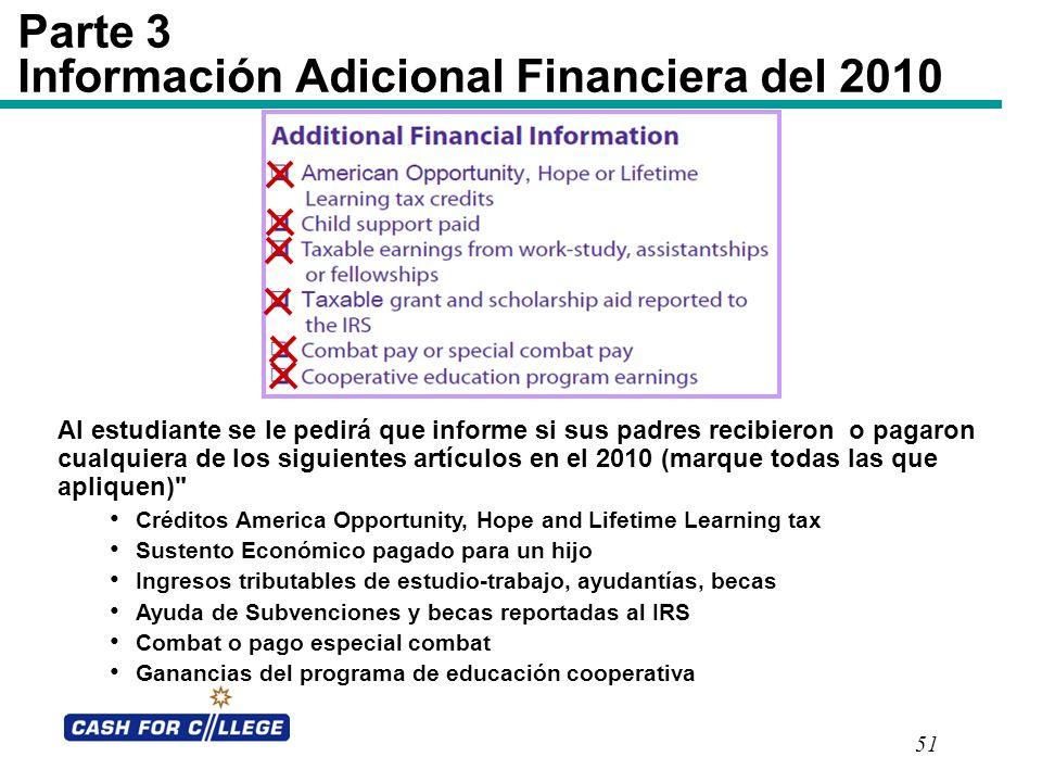 Parte 3 Información Adicional Financiera del 2010
