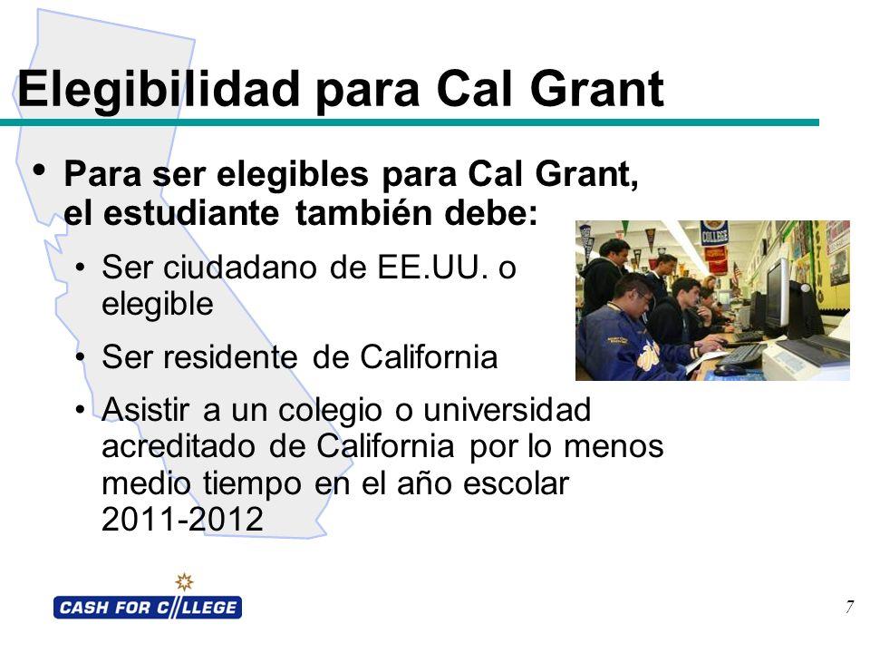 Elegibilidad para Cal Grant