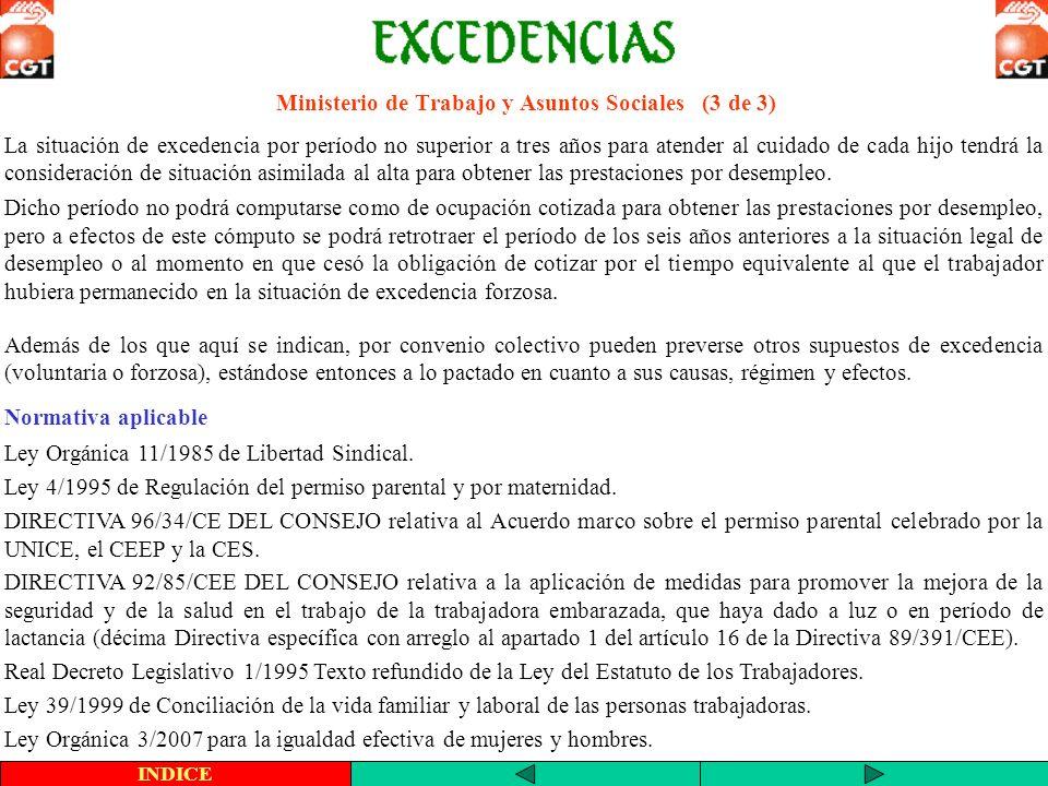 Ministerio de Trabajo y Asuntos Sociales (3 de 3)