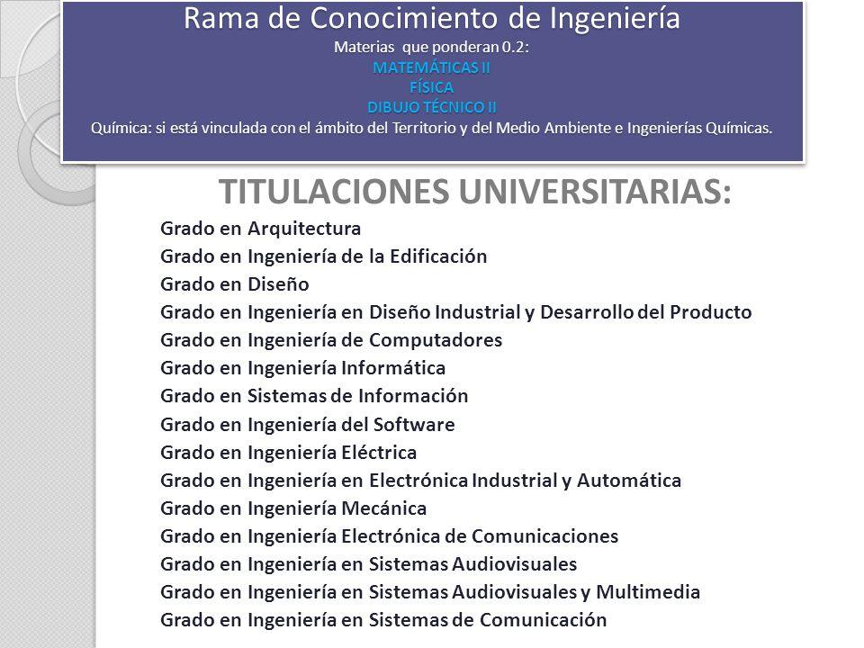 TITULACIONES UNIVERSITARIAS  ppt descargar
