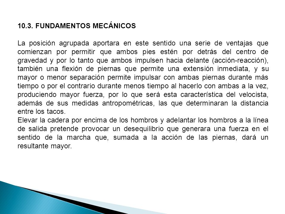 10.3. FUNDAMENTOS MECÁNICOS