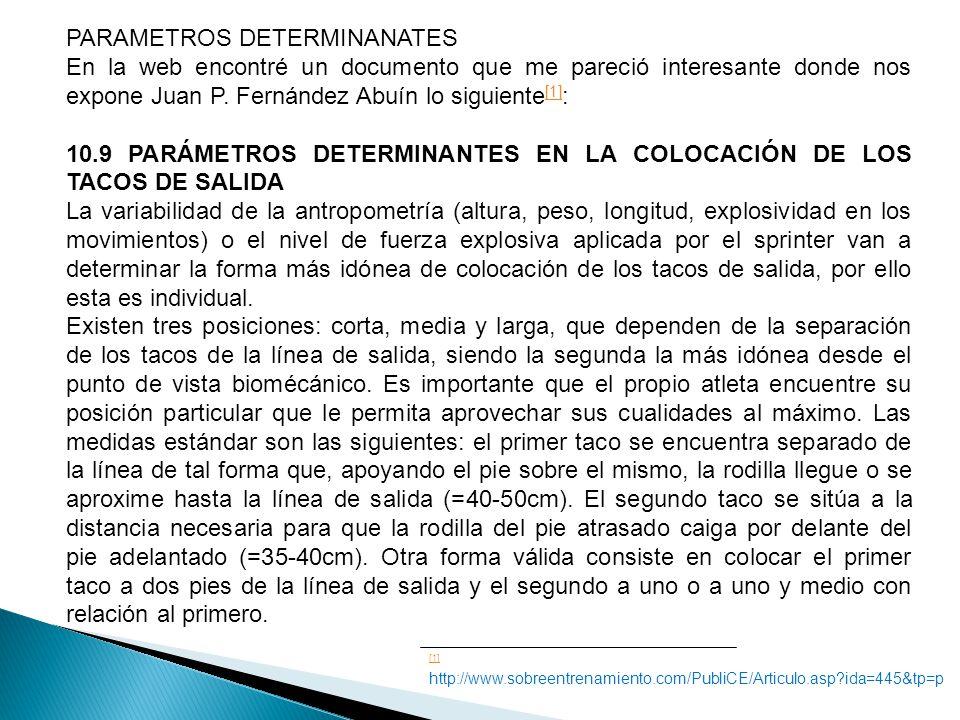 PARAMETROS DETERMINANATES