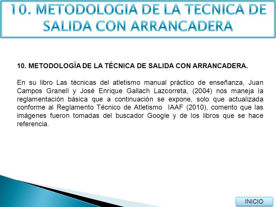10. METODOLOGIA DE LA TECNICA DE SALIDA CON ARRANCADERA