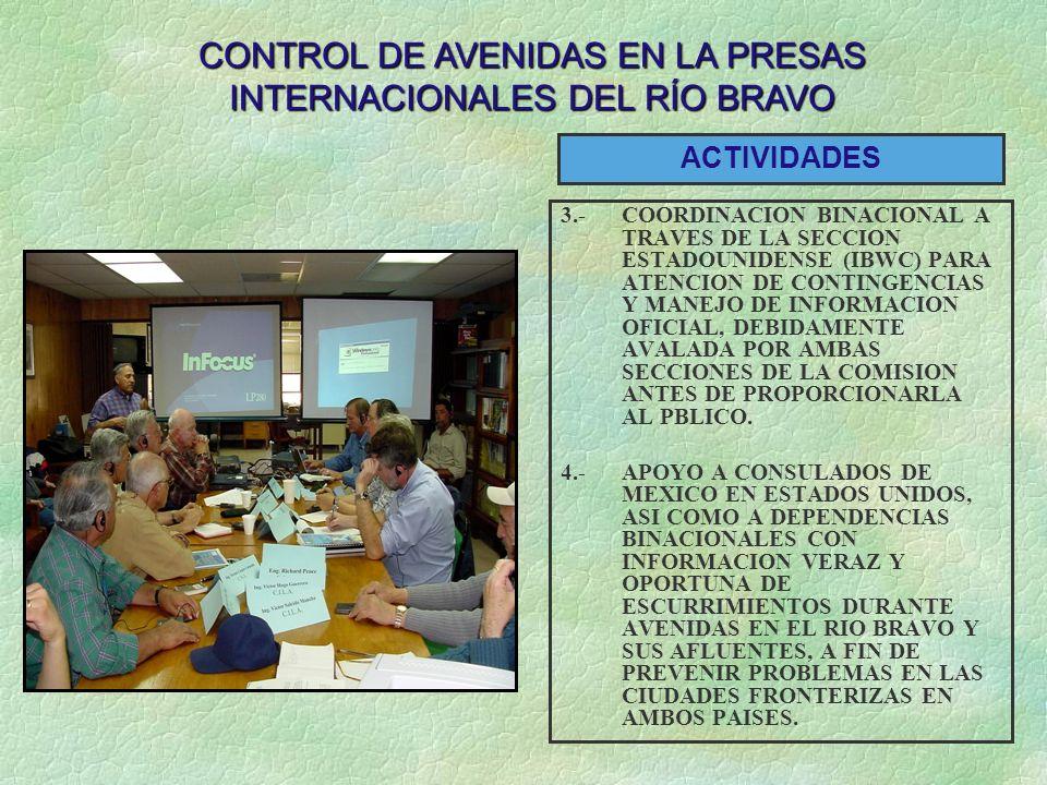 CONTROL DE AVENIDAS EN LA PRESAS INTERNACIONALES DEL RÍO BRAVO